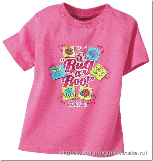 Вишневая футболка Cabela's Toddlers' Bug-a-Boo Tee