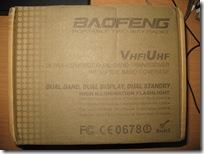 коробка с рацией BAOFENG UV-5R