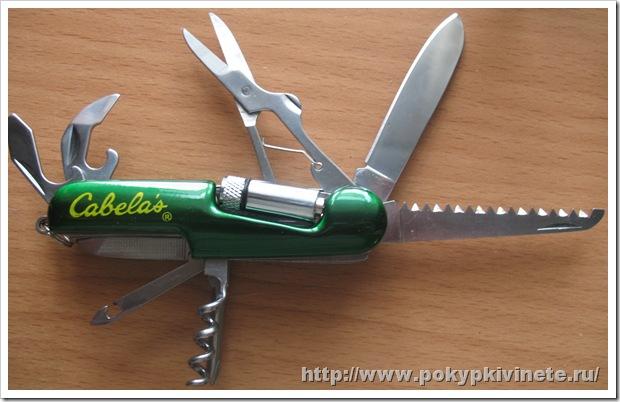 Cabela's Swiss Style LED Tool ножик типа как швецарский